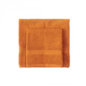 Set asciugamano e ospite BASSETTI TIME 370 grammi unita - arancione 1920