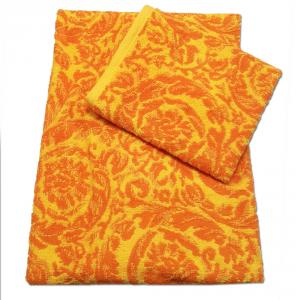 Coppia di spugne set 1+1 PRETTI Arabesque jacquard - arancione