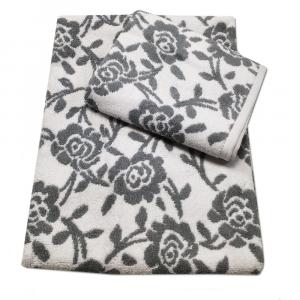 Coppia di spugne set 1+1 PRETTI Roseto jacquard  - grigio