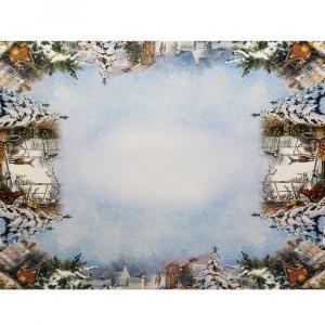 Tovaglia x6 Persone 150x180 stampa digitale CERBIATTI idea regalo Natale
