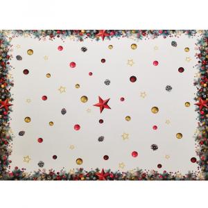 Tovaglia x6 Persone 150x180 stampa digitale STELLE idea regalo Natale