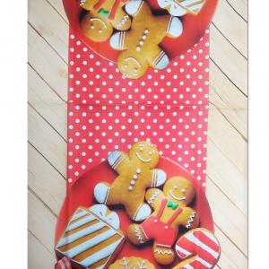 Runner centrotavola 45x140 cm Happidea BISCOTTI idea regalo Natale
