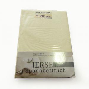 Lenzuola di cotone con angoli singole Jersey di maglina - beige