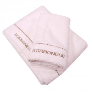 Set 1+1 coppia di spugne asciugamano e ospite Borbonese FINE OP avorio