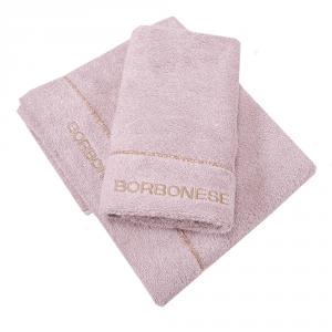 Set 1+1 coppia di spugne asciugamano e ospite Borbonese FINE OP nocciola