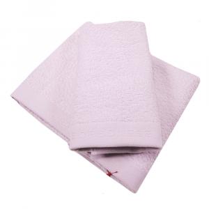 Set 1+1 coppia di spugne asciugamano e ospite Borbonese VELVET OP perla