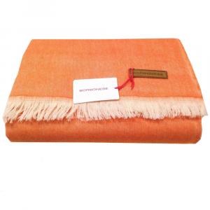 Plaid con frange Borbonese pura lana vergine 140x180 cm PRETTY mango