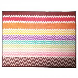 Missoni Home RUFUS 159 tappeto bagno 70x90 cm chevron zig-zag rosso