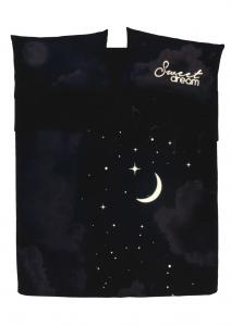 Set lenzuola matrimoniali 2 piazze Bassetti Sweet Moon  effetto copriletto