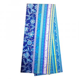 Bassetti Granfoulard telo arredo SATERIA v.3 blu puro cotone - 180x270 cm