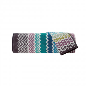 Missoni Home 1 asciugamano + 1 ospite 1 tappeto zig-zag blu Rufus 170