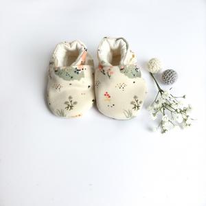 Scarpine neonato fantasia bambi in cotone biologico