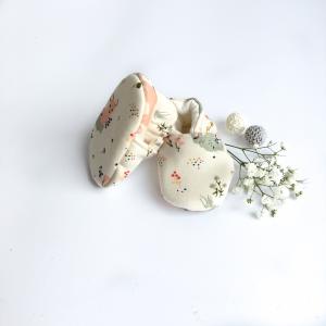 Scarpine neonato bambi in cotone biologico