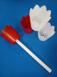 Flambeaux in plastica per processioni completo di candela.