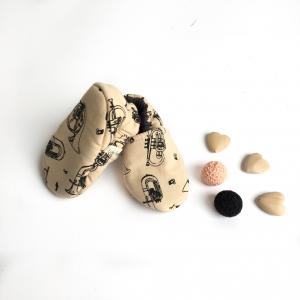 Scarpine neonato strumenti musicali in cotone biologico