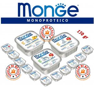 Monge Monoproteico SOLO Alimento umido per Cani Vari Gusti 150gr