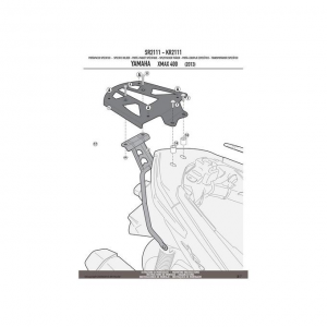 ATTACCO POSTERIORE SPECIFICO PER BAULETTO MONOKEY KAPPA KR2111 YAMAHA X-MAX 400 DAL 2013 AL 2016