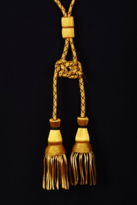 Coppia cordoniera oro e nero
