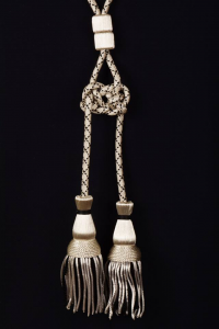 Coppia cordoniera argento e nero