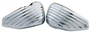 Greasy Coast, Sidecovers, Battery and Oil Tank Cover, Sheet Metal, Chrome