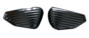 Sidecovers, Battery and Oil Tank Cover, Sheet Metal, Satin Black