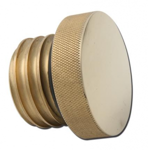 Gas cap brass knurled, vented