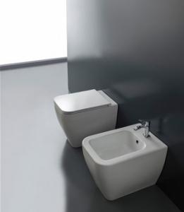 Vaso e bidet a terra per il bagno cm 54,5 x 36 Next Scarabeo
