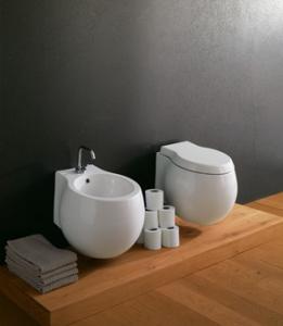 Vaso e bidet sospeso per il bagno cm 50 x 45 Planet Scarabeo