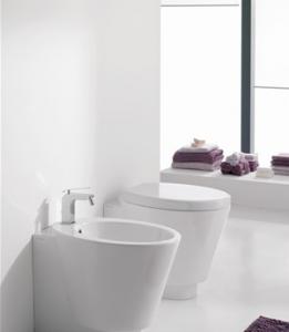 Vaso e bidet a terra per il bagno cm 57 x 35 Wish Scarabeo