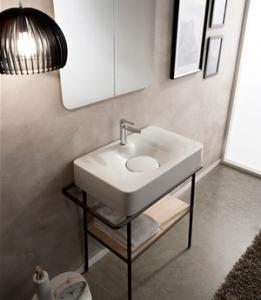 Lavabo per il bagno da appoggio/sospeso cm 70 x 43 Fuji Scarabeo