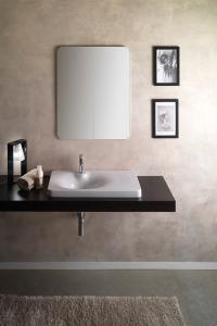Lavabo per il bagno a incasso cm 80 x 44 Fuji Scarabeo