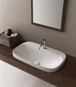 Lavabo per il bagno a incasso cm 42 x 42 Moon Scarabeo