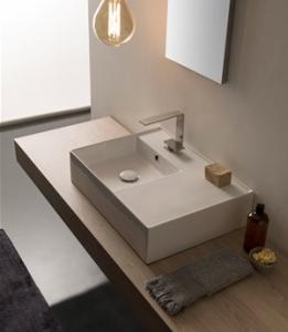 Lavabo per il bagno da appoggio cm 60 x 44 Teorema 2.0 Scarabeo