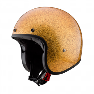 CARBURO CLASS Glitter Casco Jet in fibra - Arancione