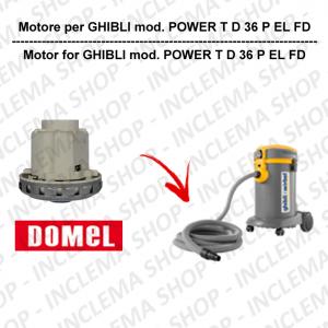 POWER T D 36 P EL FD motore aspirazione DOMEL per aspirapolvere GHIBLI