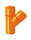 BRAGA PVC ROSSA SEMPLICE 45° D.32