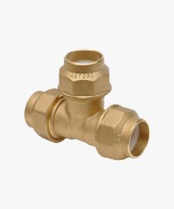 Raccordo ottone a T per tubo polietilene  Ø 20x20x20 mm-Ø 25x25x25 mm-Ø 32x32x32 mm-2-2