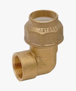 Raccordo ottone gomito femmina tubo polietilene Ø 20x1/2mm- Ø 25x3/4mm -Ø 32x1