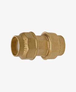 Raccordo ottone giunzione tubo polietilene Ø 20x20 mm-Ø 25x25 mm-Ø 32x32 mm