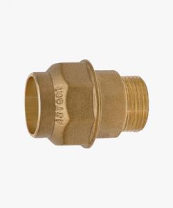 Raccordo ottone maschio tubo polietilene  Ø 20mm x 1/2