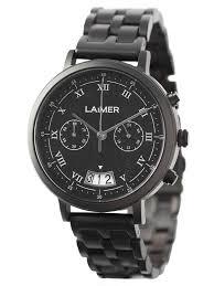 Orologio legno e acciaio nero laimer crono