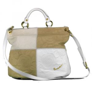 Hand and shoulder bag Braccialini AIRONE B8701 BIANCO/BEIGE