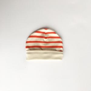 Cappellino righe rosse in cotone biologico