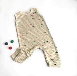 Tutina neonato smanicata di cotone biologico abaco
