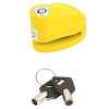 LUCCHETTO BLOCCA DISCO SCOOTER PERNO DIAMETRO 5,5mm GIALLO