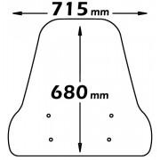 PARABREZZA CLASSIC ISOTTA PER PIAGGIO LIBERTY S 2006 attacchi a/722