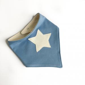 Bavaglino modello bandana stella pervinca