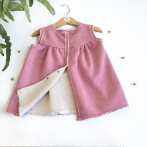 Vestitino glitter rosa cotone biologico felpato
