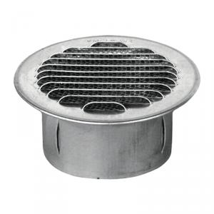 griglia di ventilazione ad incasso in acciaio da 100