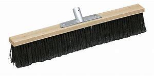 Scopa industriale setole rigide base legno cm 40
